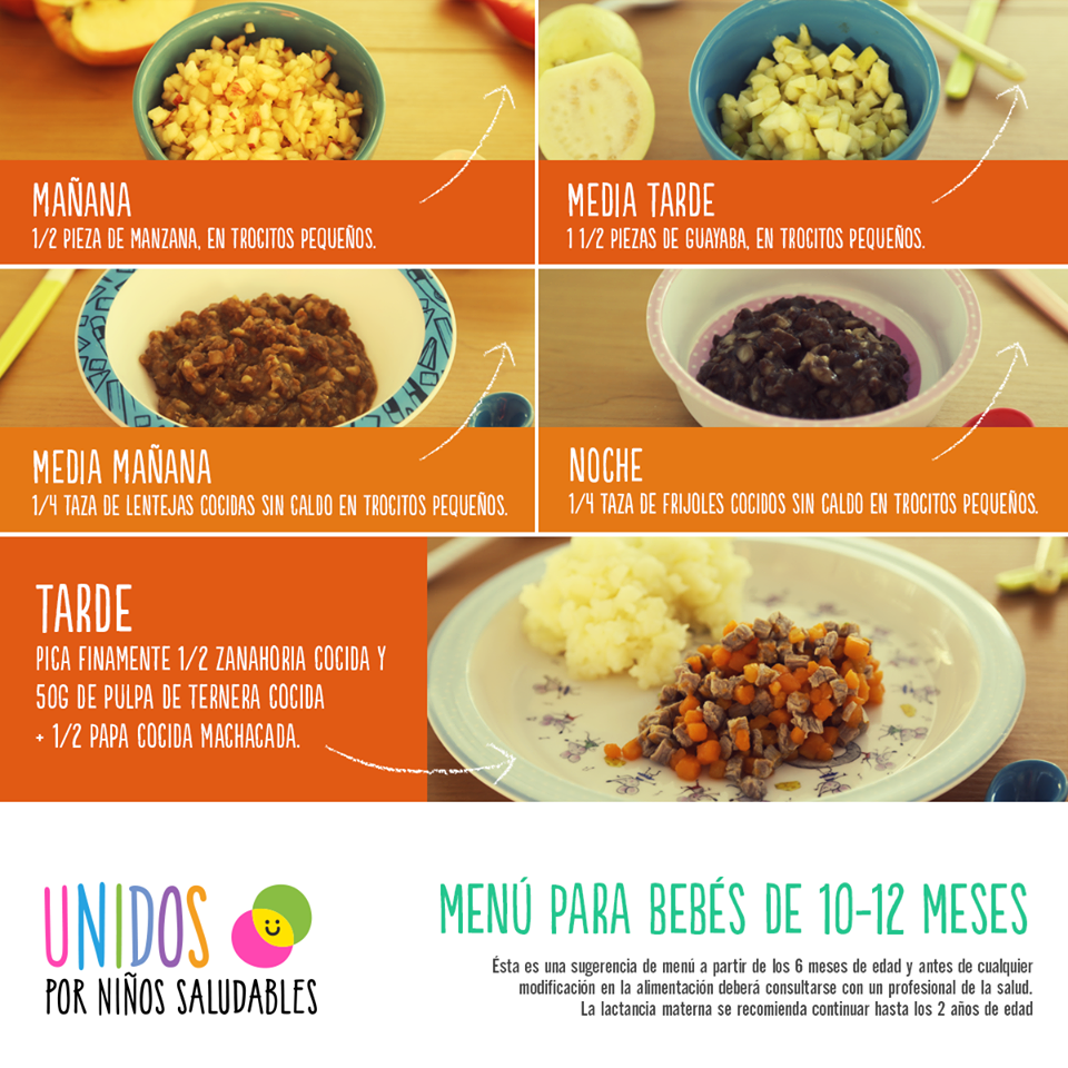 Menu para bebes de 10 12 meses alimentos pour le petit pinterest baby food recipes - Cuantas comidas hace un bebe de 8 meses ...