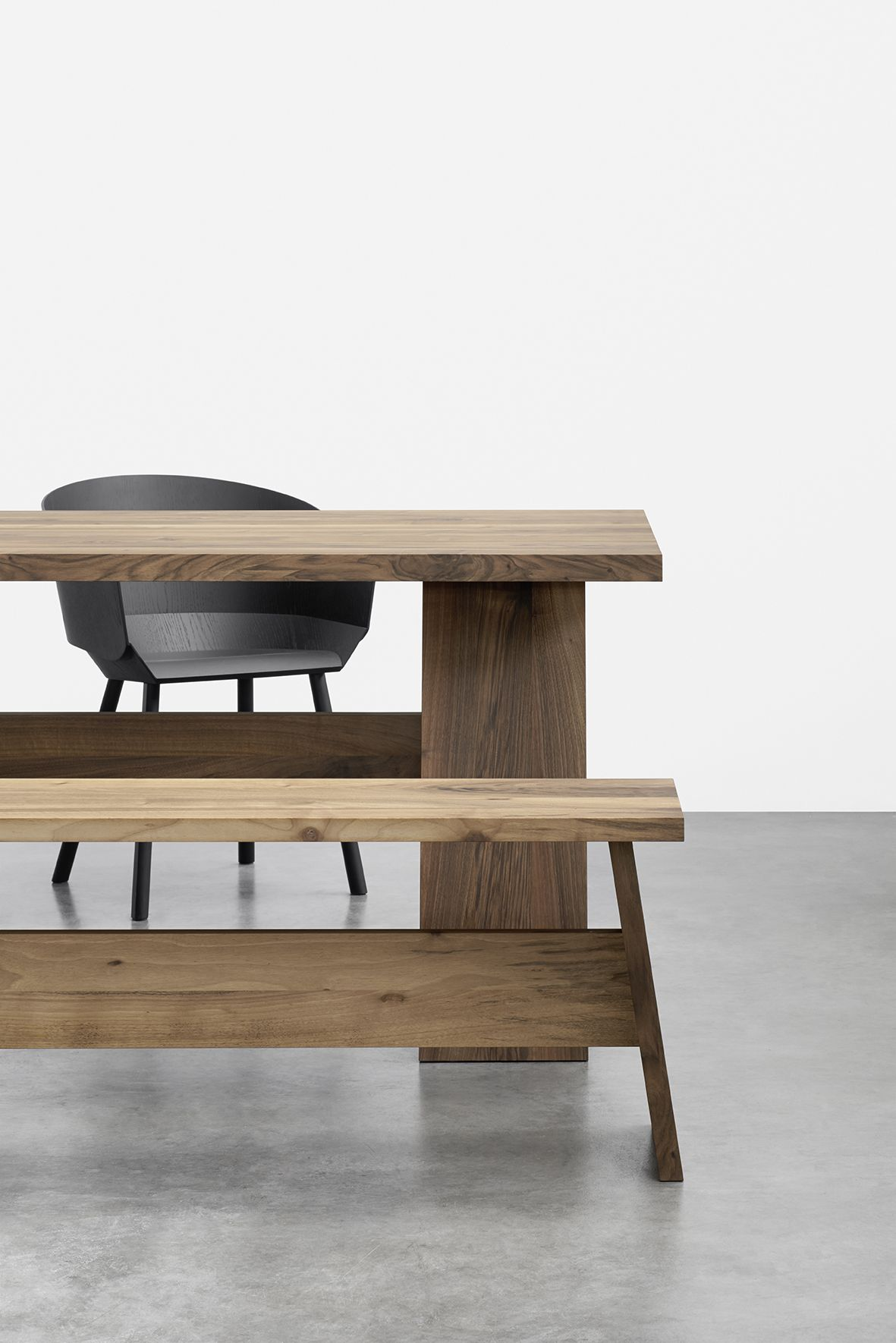 Table Fayland And Bench Fawley By David Chipperfield In Solid