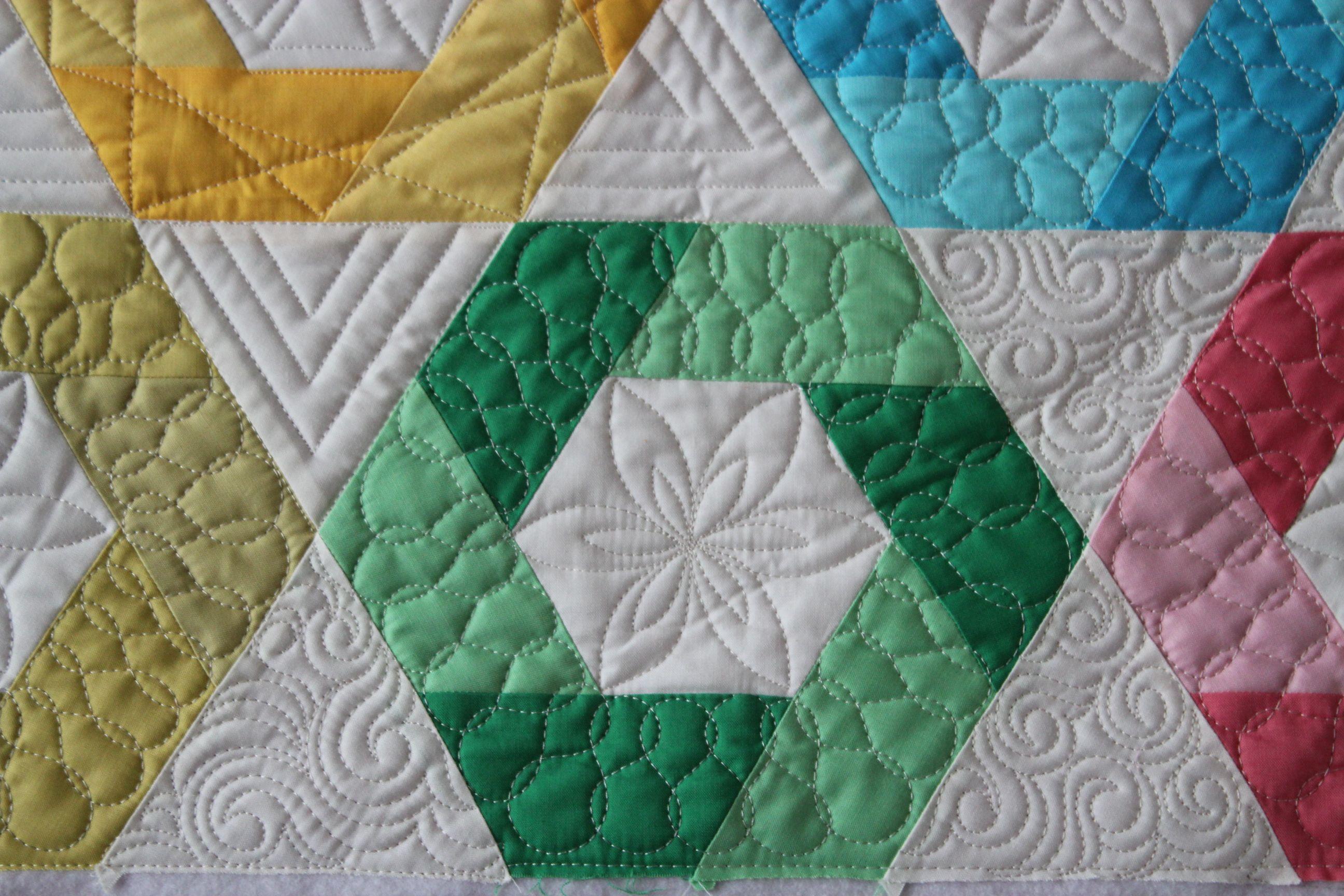 Hexagon Quilt Block Pattern Candy quilting pattern | Fabric ... : hexagon quilting patterns - Adamdwight.com