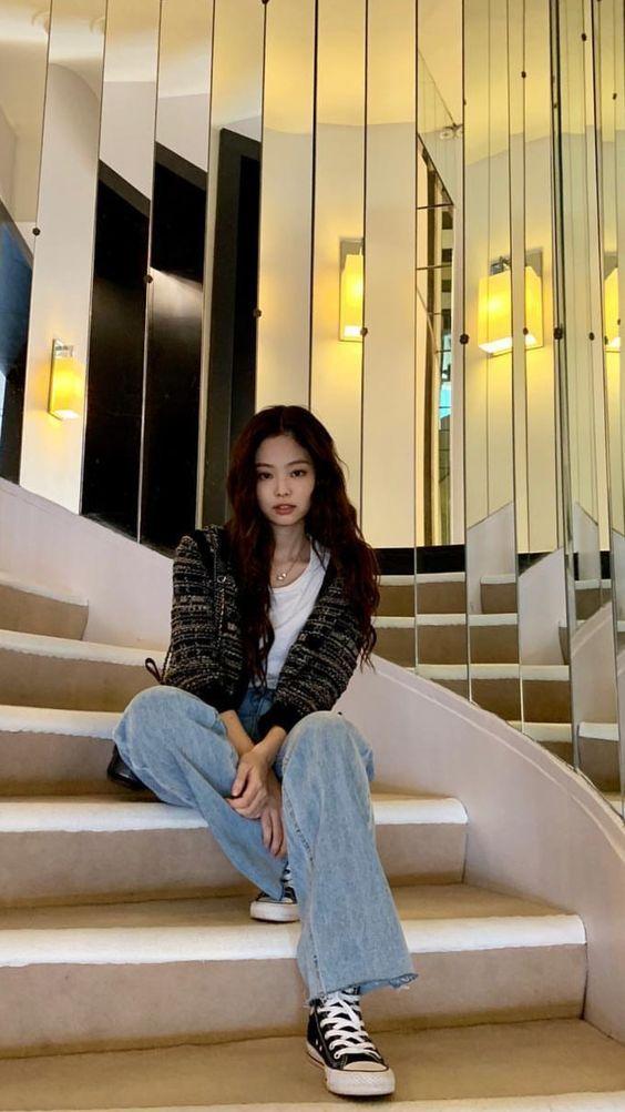 Retro Plaid Knit Cardigan | Jennie - BlackPink | K-Fashion at Fashionchingu