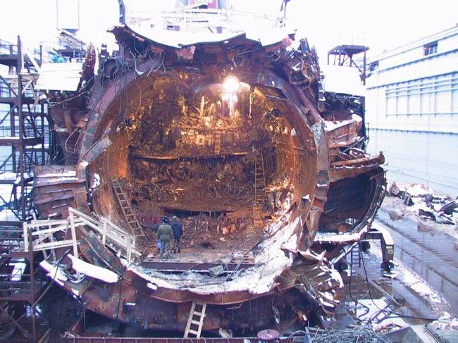Remains of kursk submarine   Russian Military   Russian