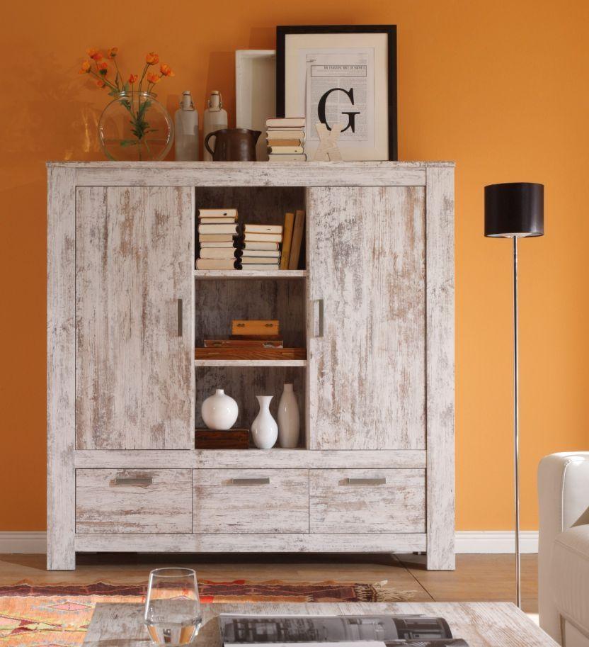 LABIBA Highboard Vintage Pinie Design Ideas for Home Pinterest - deko wohnzimmer regal