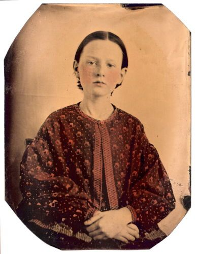 Vintage Female Full Plate Tintype 8 5 x 6 5 inches Bold Portrait Young Girl | eBay