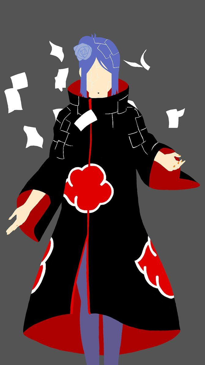 A Minimalist Illustration Of Konan This Is Another Wallpaper I Really Like How This One Came Out Disclaimer Personagens De Anime Anime Papel De Parede Anime