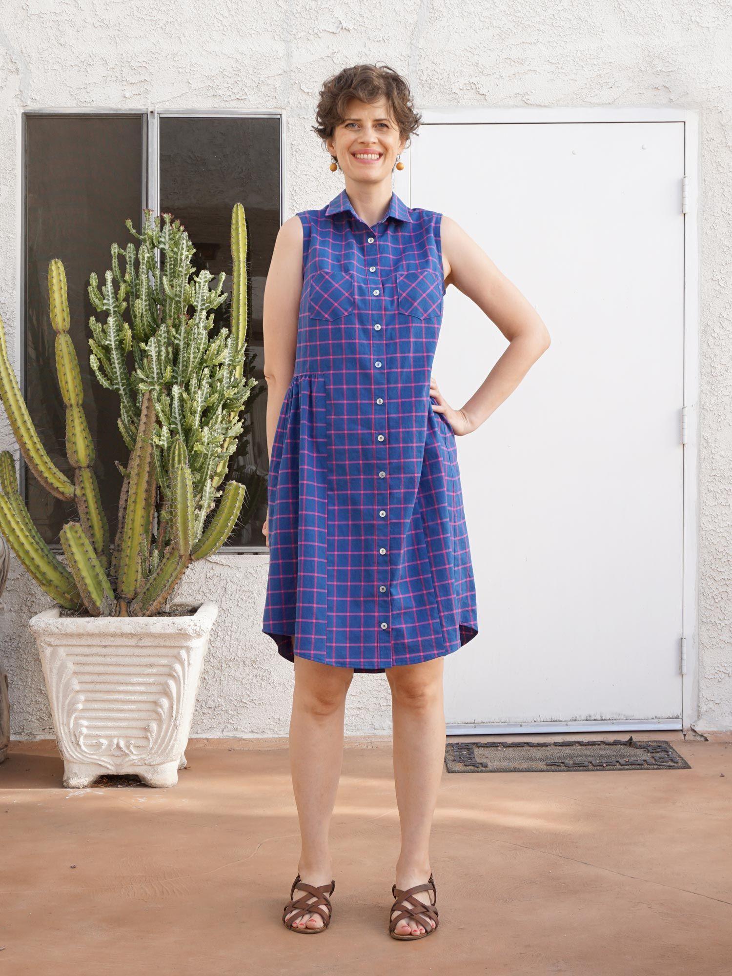 Diy Check Print Alder Shirtdress Shirt Dress