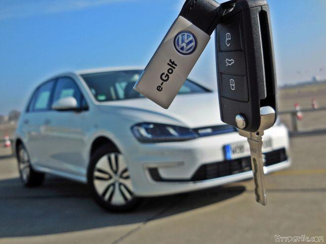 Volkswagen e-Golf Elektrogolf in Berlin Tempelhof