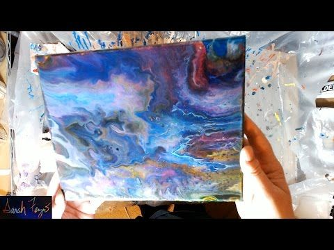 Pouring A Painting Using 100 Acrylic House Paint