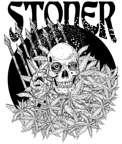 stoner trippy weed coloring pages - photo#15