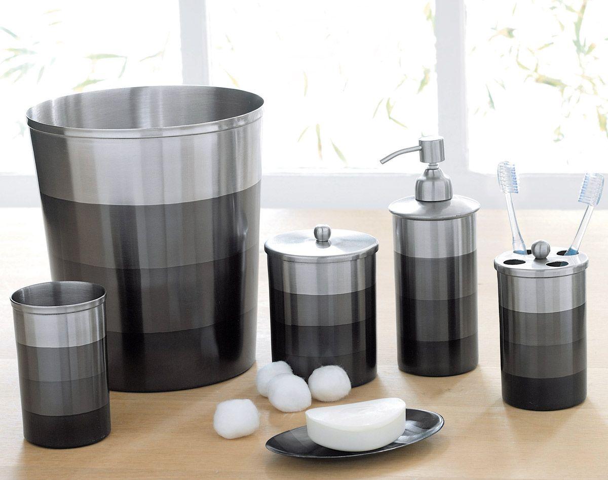 accessoires de salle de bains inox brossé #becquet | Bath | Pinterest