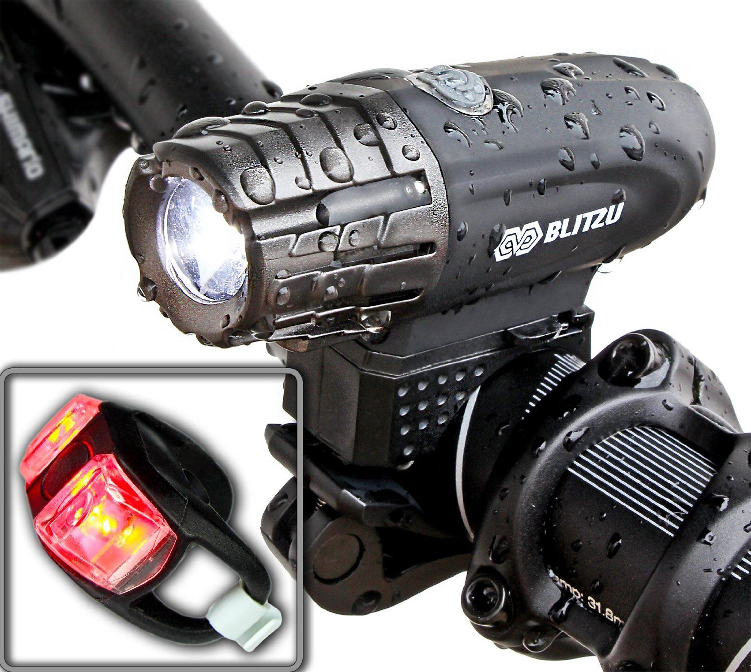 Waterproof USB Rechargeable Bike Bicycle Cycling Front Light Super Bright