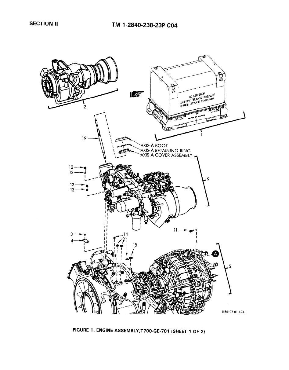 Engine Assembly T700 Ge 701 Turbo Jet Fan Shaft Prop