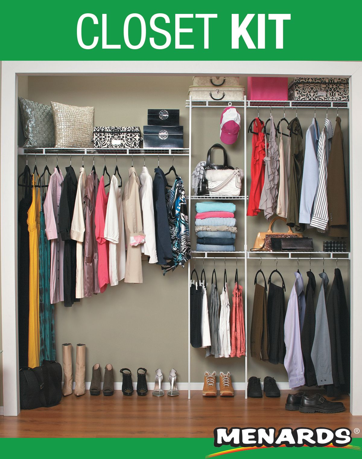 The Economical Way To Organize Your Closets Ventilated Shelving Allows For Air Circulation Clothes Hanger Storage Clothing Rack Bedroom Closet Organizer Kits