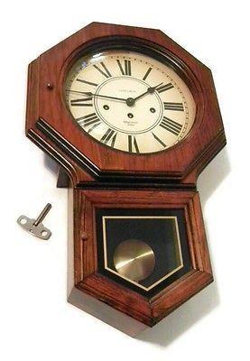 Verichron Westminster Chime Pendulum School House Clock