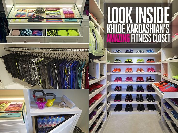 Look Inside KhloeKardashians Amazing Fitness Closet Glam ClosetWalk In ClosetMaster ClosetKardashian WorkoutKhloe