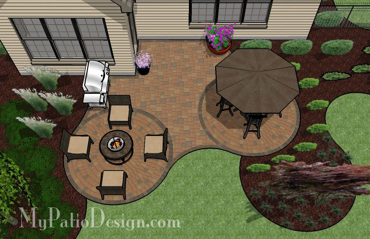 curved patio for