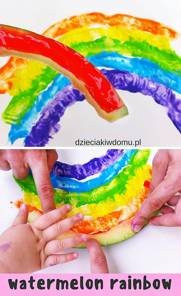 Tecza Z Arbuza Pomysl Na Prace Plastyczna Dla Dzieci Summer Crafts Crafts Rainbow