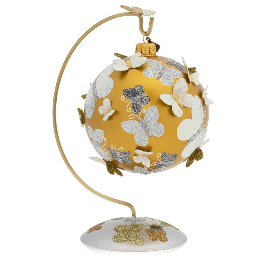 Butterfly Glass Ornament 350 Ornaments Glass Ornaments Gold Glass