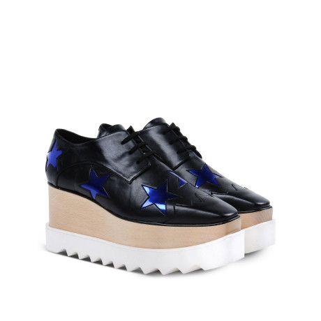 dfb722fec29c Women s Blue Elyse Stars Faux-leather Platform Oxford