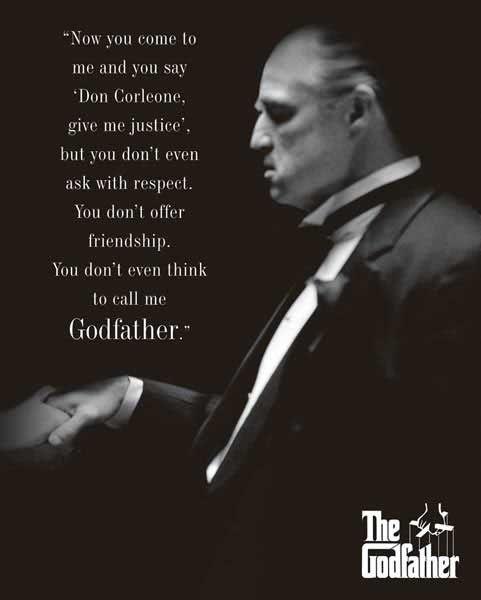 The Godfather Respect Poster At Barewalls Com