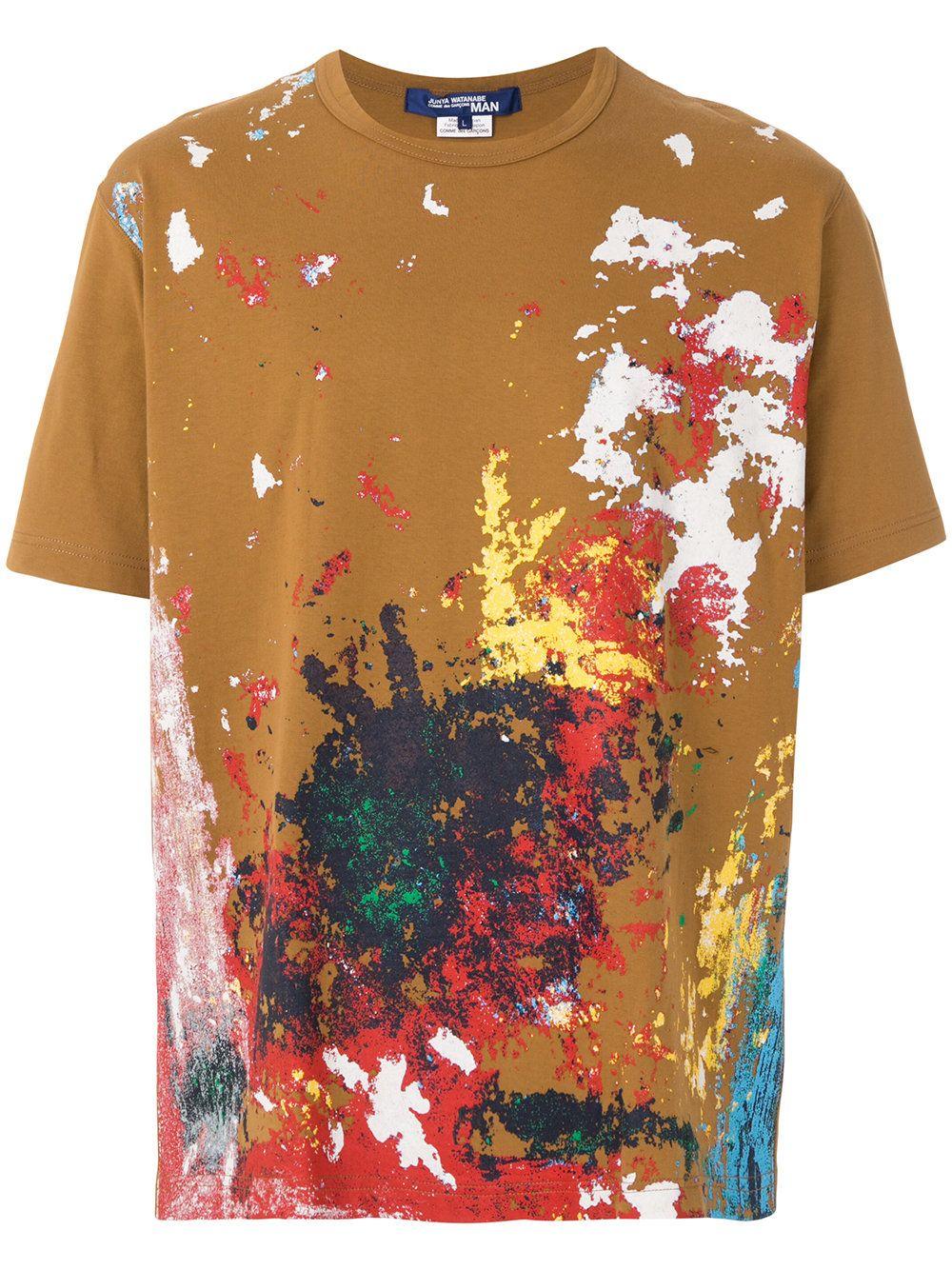 8fbc685e818e Junya Watanabe MAN Paint splash T-shirt