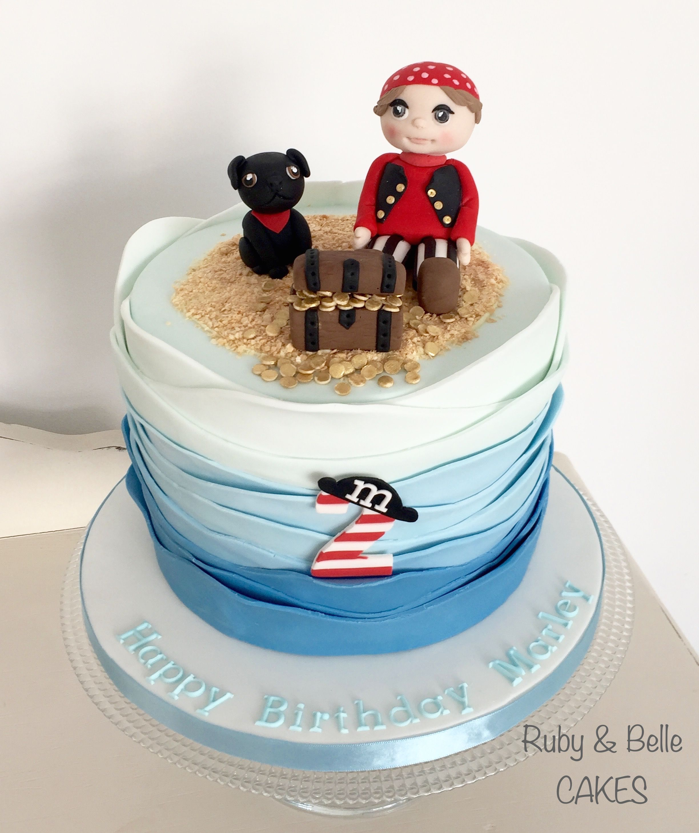 Pirate 2nd Birthday Cake Created By Ruby Belle Cakes Brighton