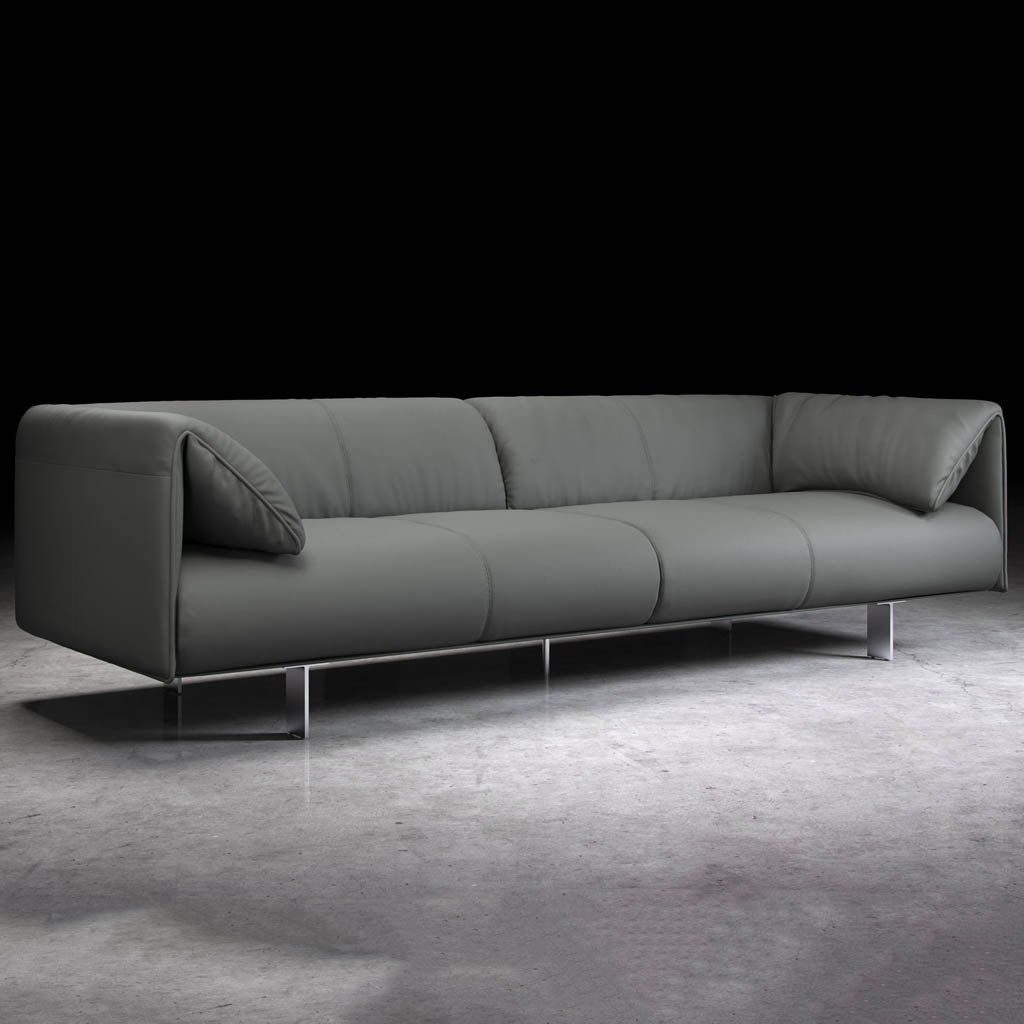 Sandy Wilson Home Abella Modern Contemporary Sofa Silver Grey