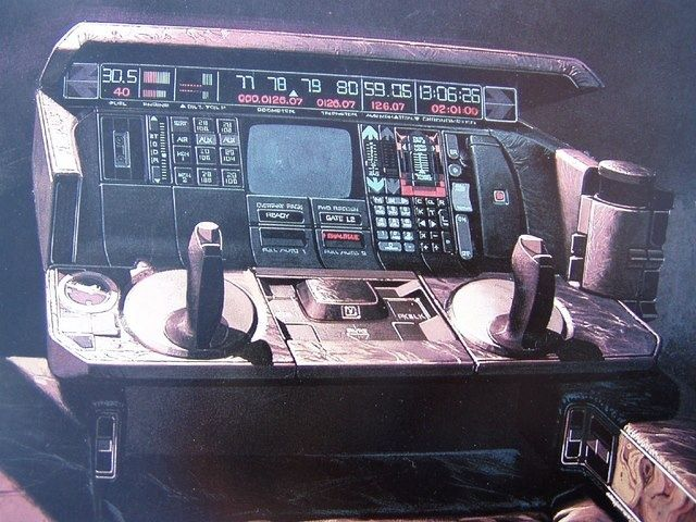 Dash cockpit control for the Syd Mead-designed Blade Runner vehicle ...