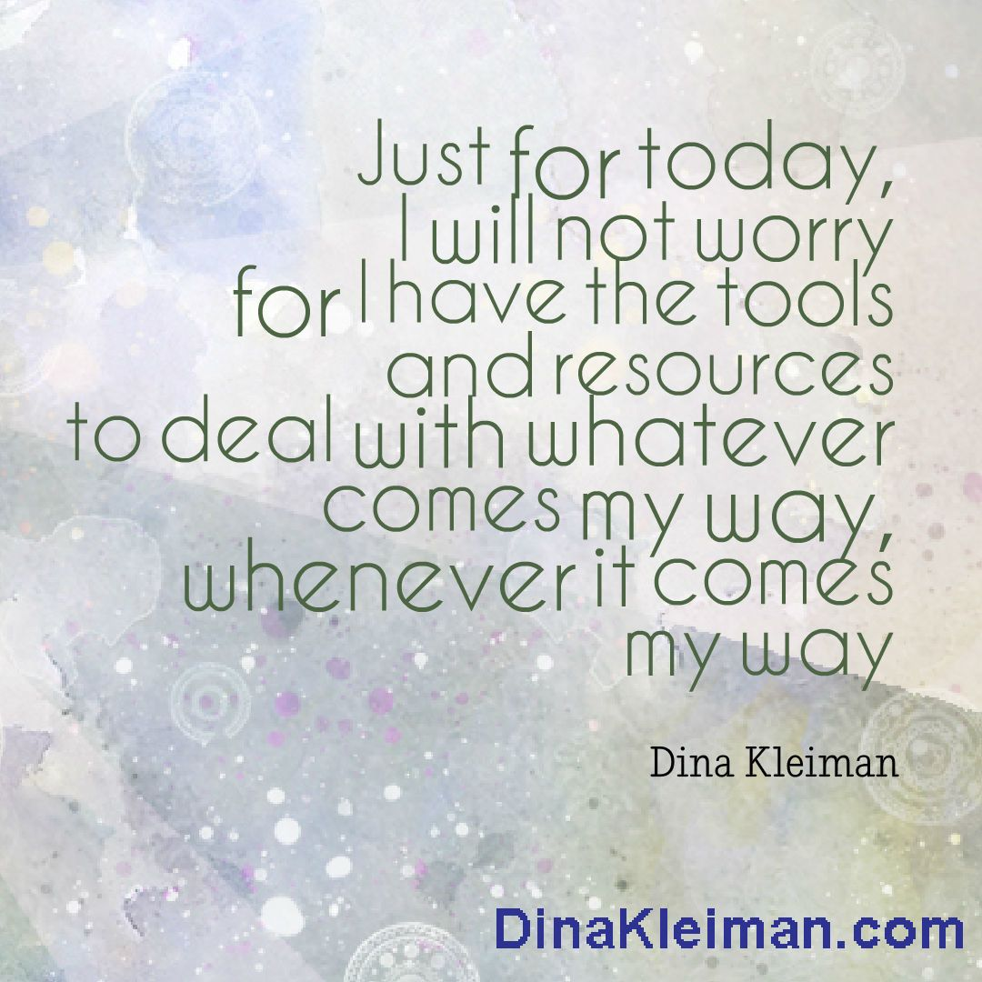 Just for today, I will not worry #quote #quotes #quoteoftheday