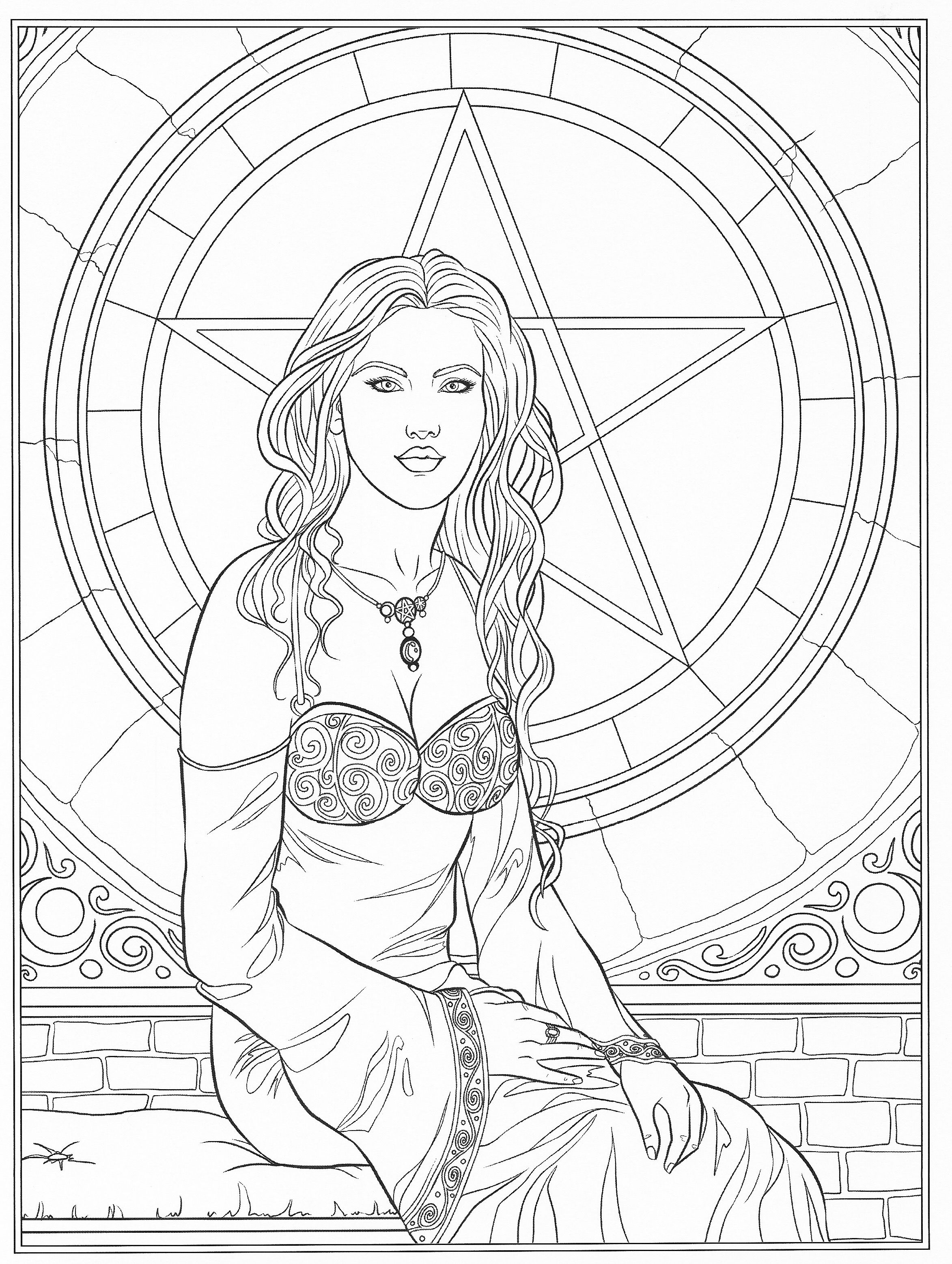 Adult Coloring - Goddess Coloring | Coloring pages, Adult ...