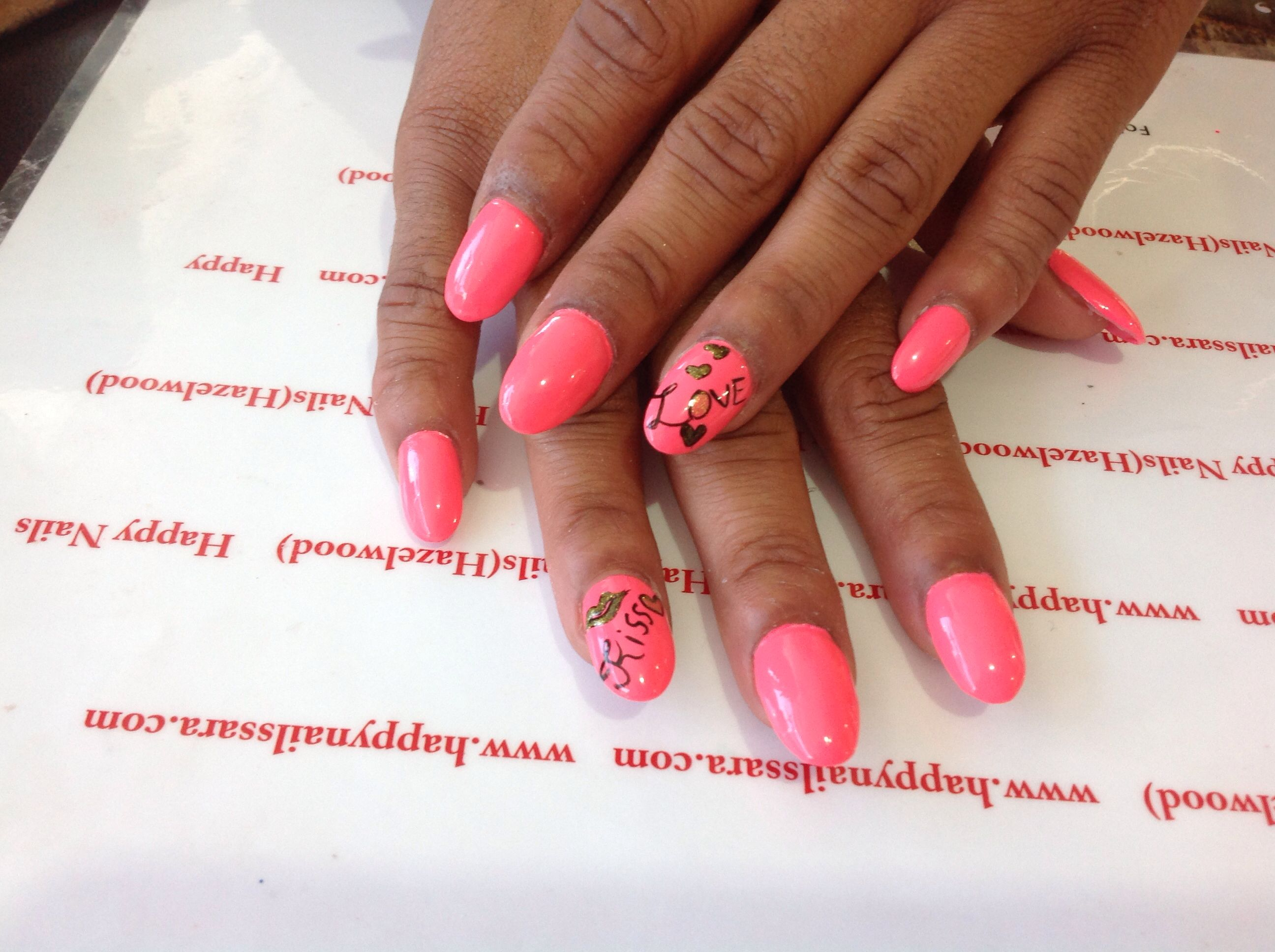 Kisslove Nail Art Happynailssara Pinterest