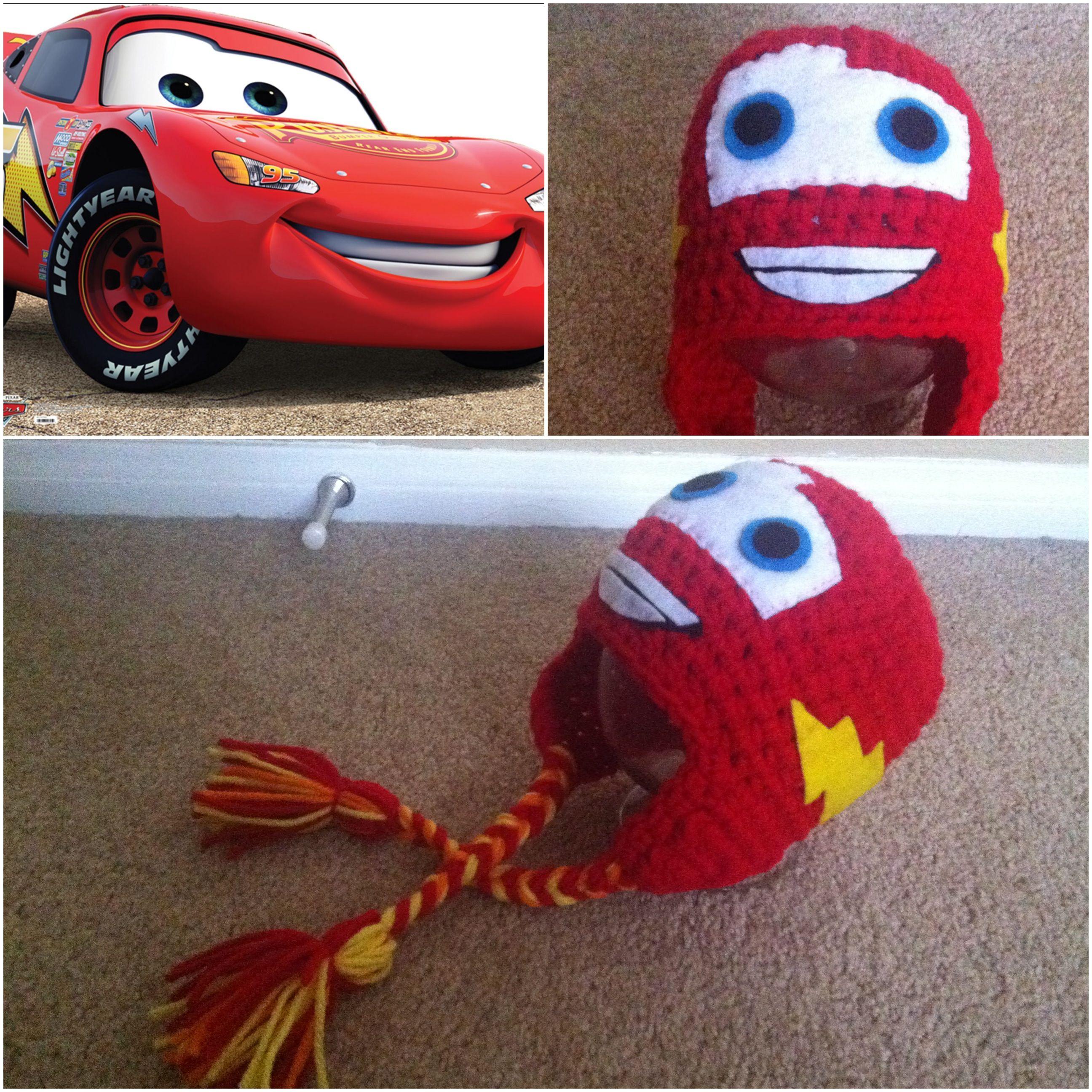 Crochet Cars Lightning Mcqueen Beanie | Crochet | Pinterest ...