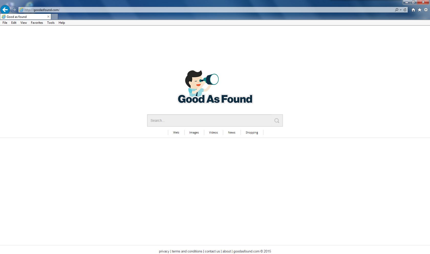 GoodAsFound.com homepage
