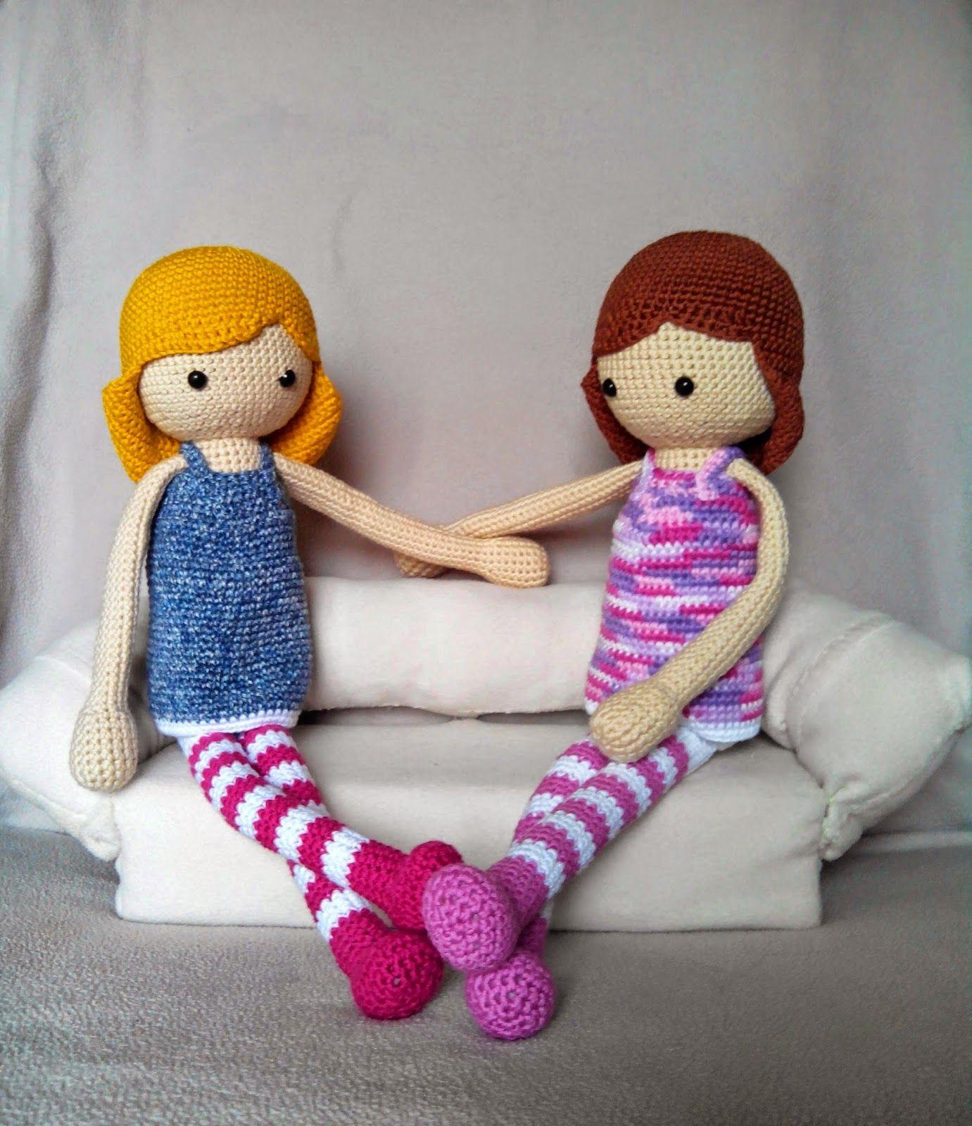 Una morena y una rubia... Me he inspirado en la imagen de la muñeca ...