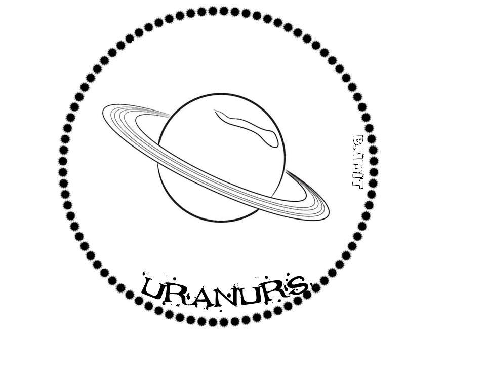 Gunes Sistemi Uranurs Gezegenler Uzayda Yolculuk Boyama Sayfalari