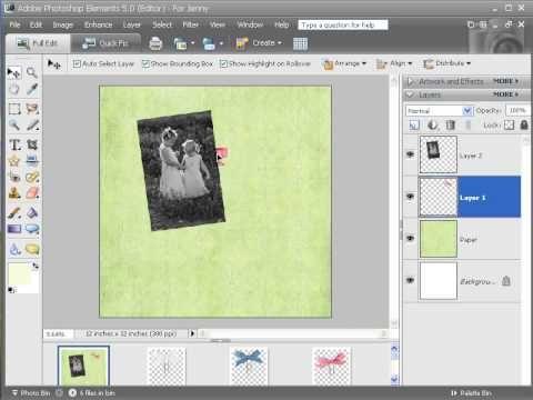 Photoshop Elements Digital Scrapbooking Tutorial