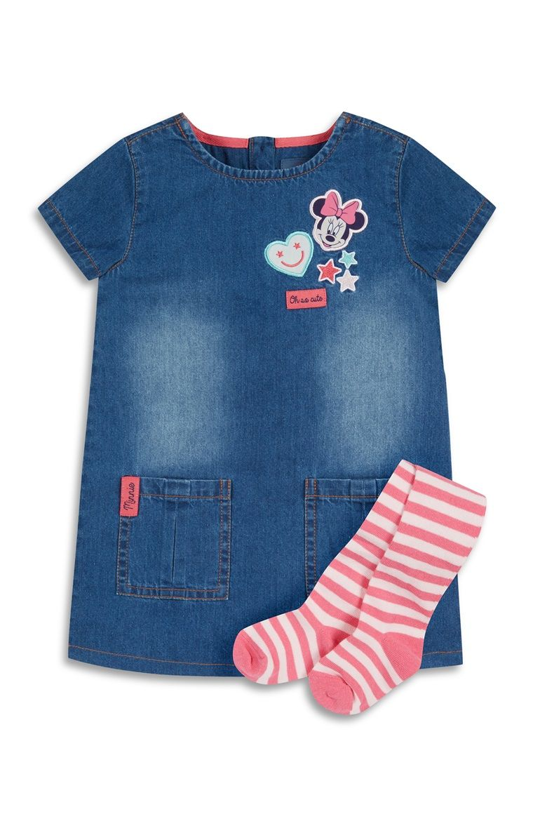 Baby Girl Denim Minnie Mouse Dress | Baby things | Pinterest ...