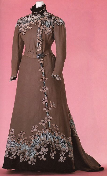 house of doucet | Day Dress Jacques Doucet House of Doucet 1897 Gray wool twill; two ...