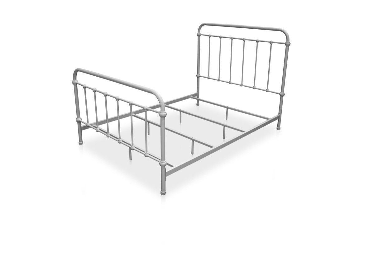 Furniture Of America Alesso Powder Coated Platfrom Queen Size Bed In ...