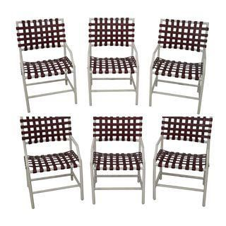 Tropitone Vinyl Strap Patio Chairs Set Of 6 895 On Chairish I Have 4