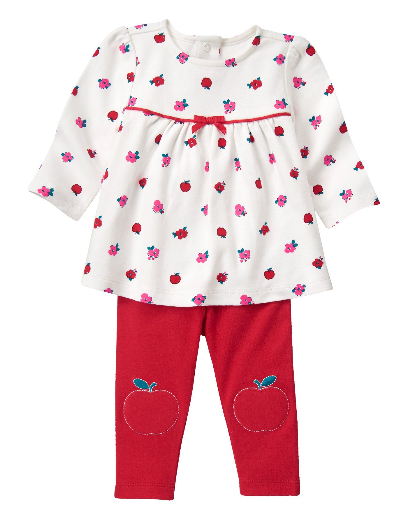 cd6ff3ad8 Baby Apple Red Floral Apple Set by Gymboree