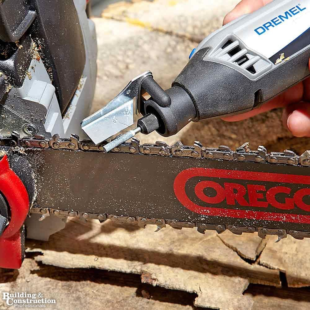 No-File Chain Saw Sharpening