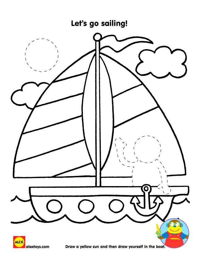 Free printable sailboat coloring sheet alextoys printable summer alexbrands com
