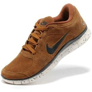 sports shoes 88c65 f2f38 Womens Nike Free Run 3 Leather Sandy Brown Grey Shoes