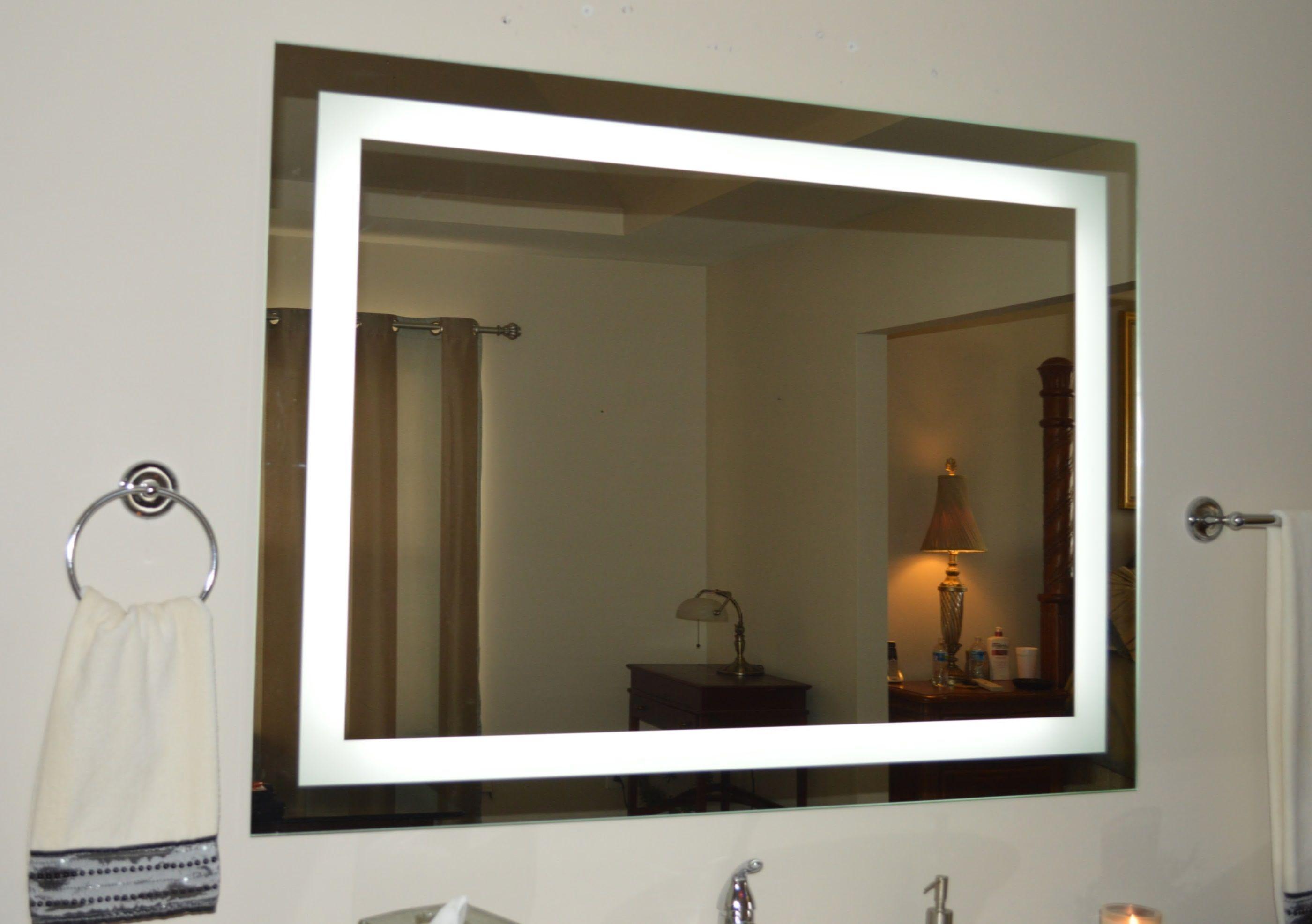 Front Lighted Led Bathroom Vanity Mirror 48 Mirror Cabinet With Light Bathroom Mirror Lights Lighted Vanity Mirror