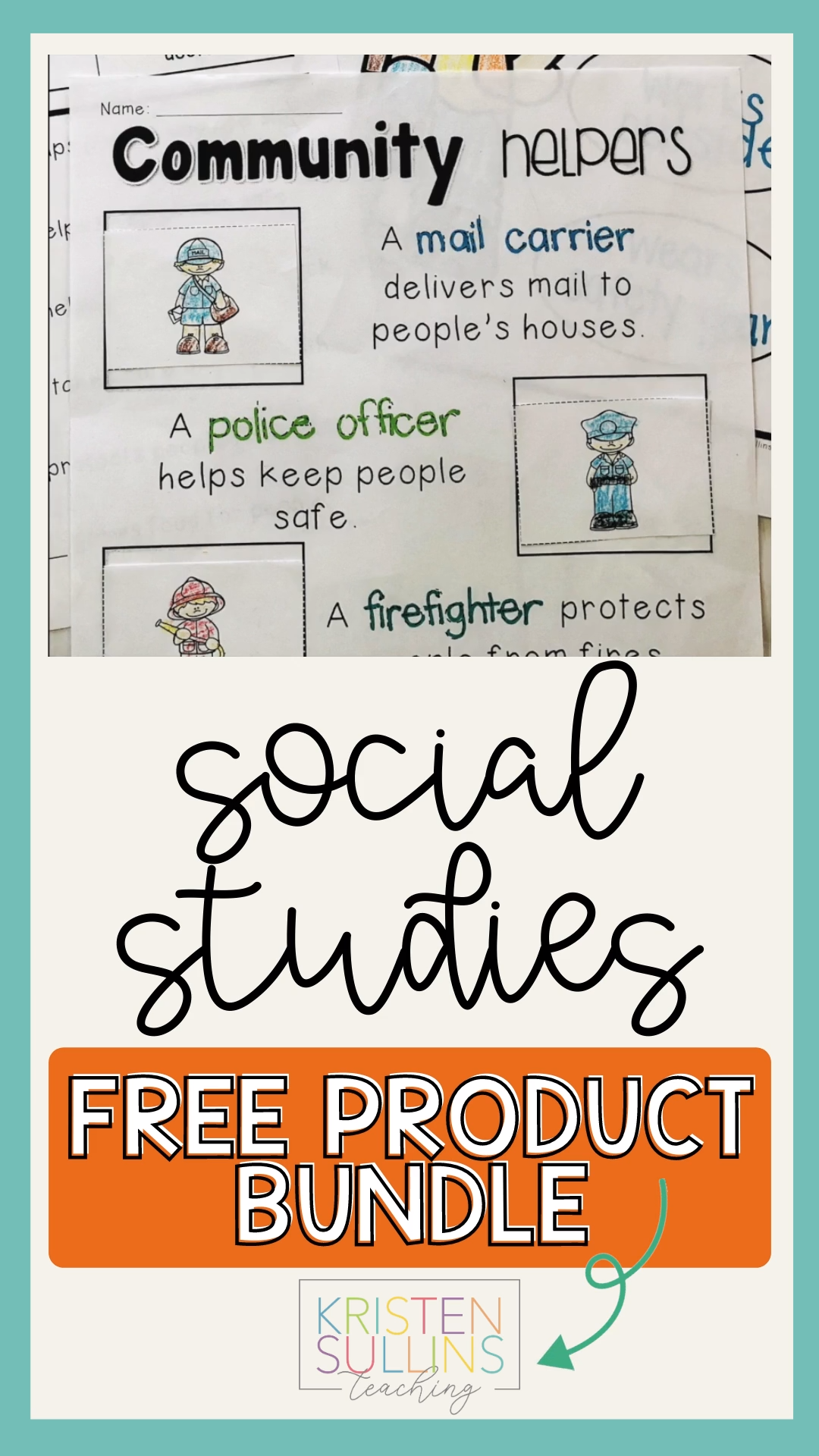 Free Social Studies Activities for Early Elementary