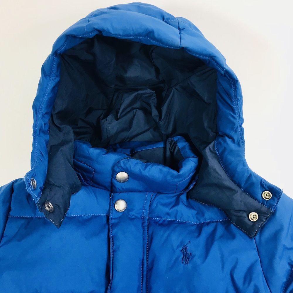 Ralph Lauren Polo Boy's Blue Puffer Hooded Winter Coat