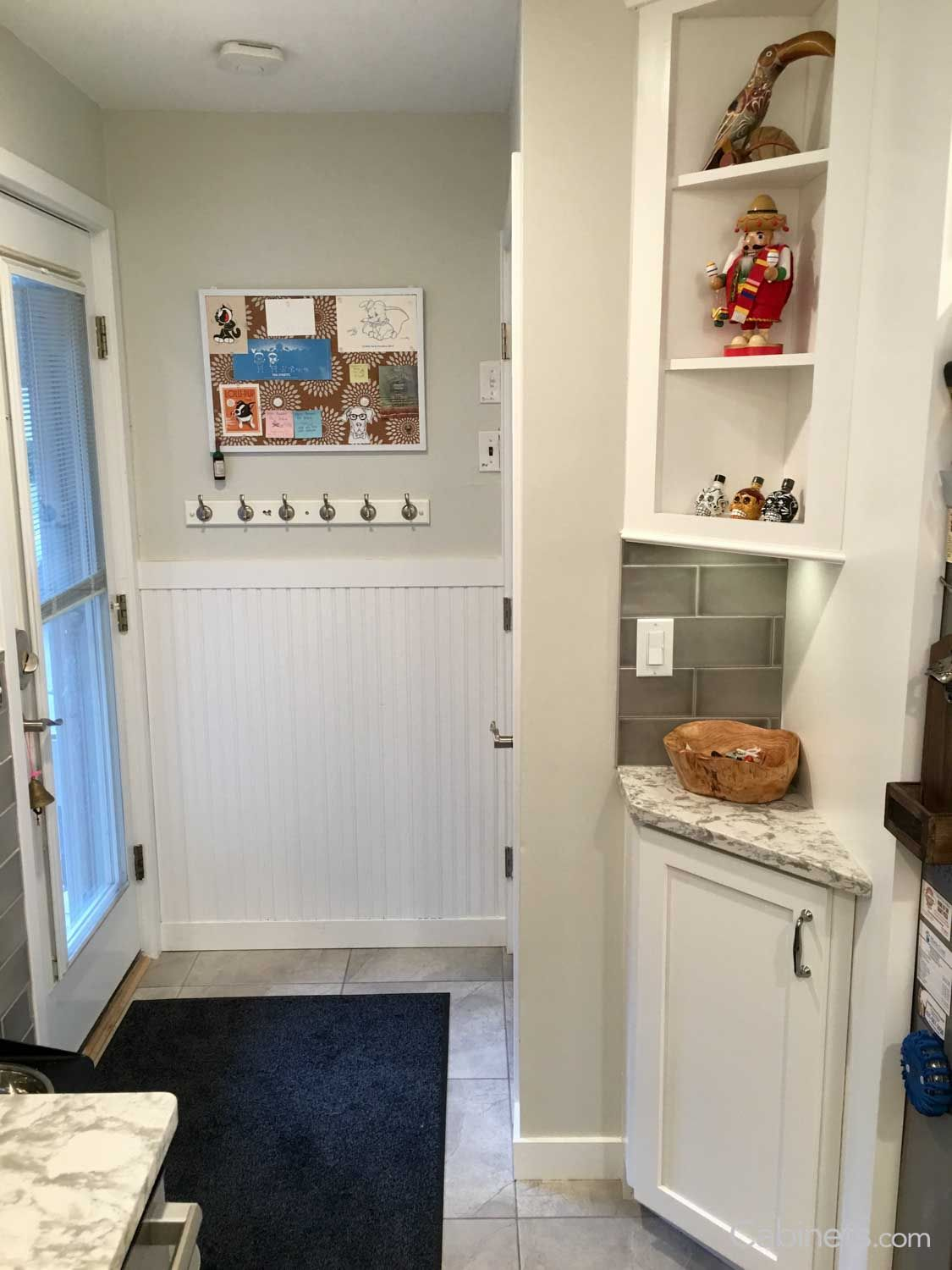Corner cabinets are great for small spaces near entryways, where ...