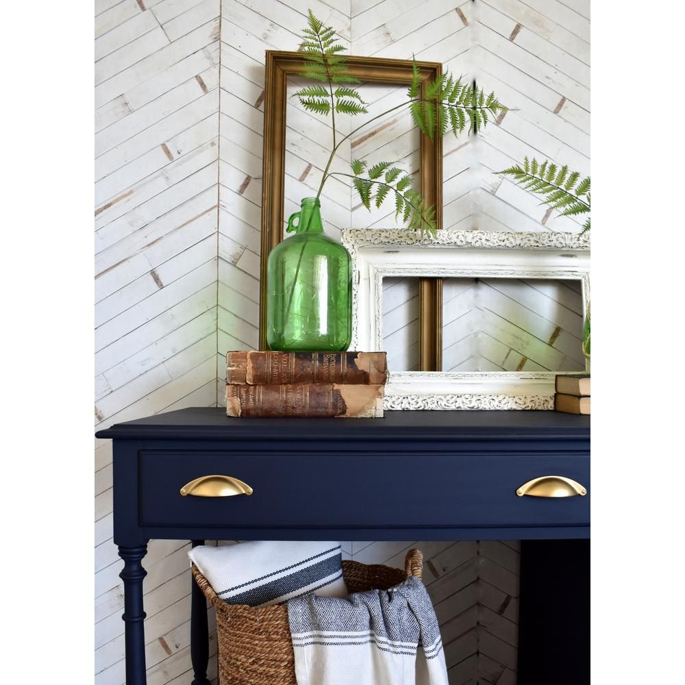 Rust Oleum 1 Qt Brush On Craft Milk Paint Navy 340248 The Home Depot In 2020 Green Painted Furniture Milk Paint Furniture Navy Painted Furniture