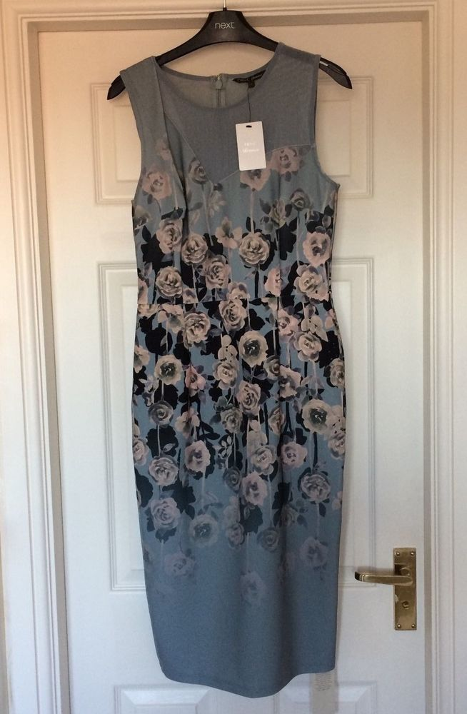 MARKS /& SPENCER GREY BLACK ABSTRACT PRINT STRETCH FABRIC DRESS SIZE 12,14,18