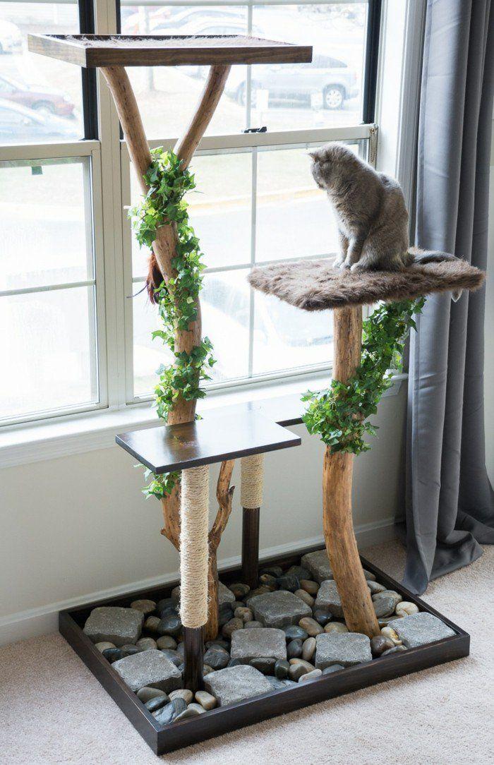 kratzbaum selber bauen aus gefälltem baum einen kratzbaum selber ...   {Waschbeckenunterschrank selber bauen 85}